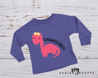 Dinosaur SVG, Sistersaurus SVG, girl svg, Printable Clipart, Silhouette Studio, SVG for Cricut Design Space, Scrapbooking