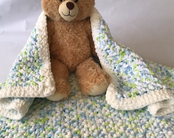 Ultra Soft Baby Blanket-Hand Crocheted
