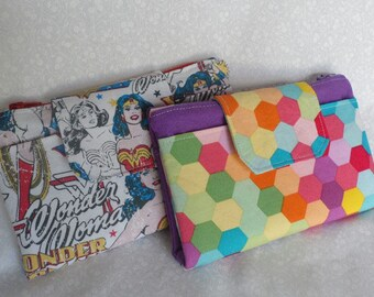 Jenna Purse PDF Sewing Pattern, wallet , coin purse, card pockets, wristlet, phone pouch, card pockets
