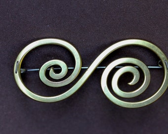 Personalized Single Initial Brooch
