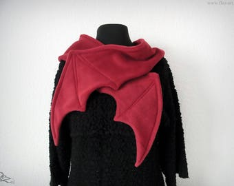 Scarf - Batwings *red