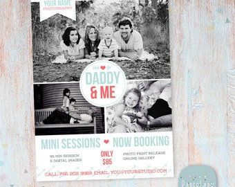 Father's Day Mini Session template - Photoshop - IF009- INSTANT DOWNLOAD
