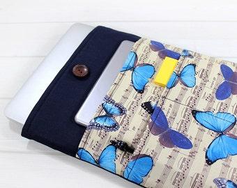 Macbook Air case, laptop sleeve, laptop case, Macbook case, Macbook sleeve, Macbook Air sleeve, Macbook sleeve 12, laptop bag, butterfly