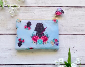 Star Wars zipper pouch, card wallet, makeup bag, pencil pouch, eco friendly, choose your size