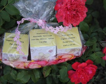 Bithday gift for her Wedding gift Bridal shower gift Gift for mom Face care set Floral Aloe Face Care Set Vegan face gift Aloe face Organic