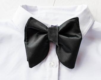 Mens Bowties Big bowtie Groom BowTie Oversized bowtie Large Bow Tie Wedding Bow Tie Butterfly BowTie Black Bow tie Tom Ford bow tie Silk tie