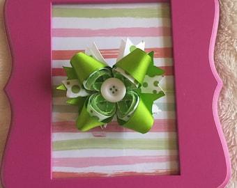 Lime Green Pinwheel Bow