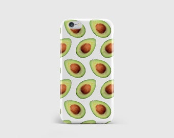 Avocado Pattern iPhone Case, Avocado Print, Food Pattern, Guacamole, Fruit Print, Phone Case Cover iPhone 7 iPhone 6 iPhone 5 \ hc-pp077