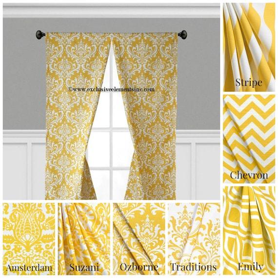 Items Similar To Modern Yellow Curtain Panels Modern