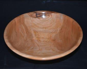 Wild Cherry hand turned medium bowl