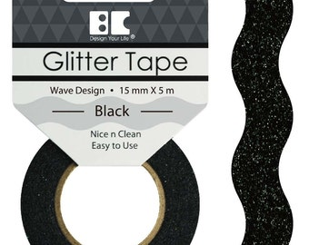 Glitter Tape Designs - Waves ~~6 colors 15mm x 5m~~