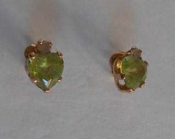 Vintage 10K Topaz Earrings