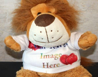 Personalised Cuddly Soft Lion Comes With Its Own T Shirt