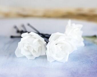 71 Silk hair flowers, Wedding hair pins, Hair flowers roses, Rose pin, Hair flowers, Wedding hair flowers, Hair accessories pins, Bride.