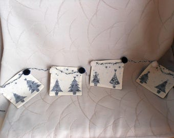 """Fabric Bunting for Christmas """"trees"""""""
