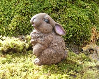 Rabbit, Brown Rabbit Statue, Bunny Garden Statue, Rabbit Memorial Statue, Hare Statue