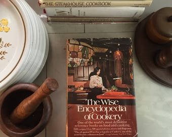 The Wise Encyclopedia of Cookery, 1971 / Vintage Cookbooks / Vintage Recipes / Vintage Cookbook / Gourmet Cooking / Gourmet Recipes