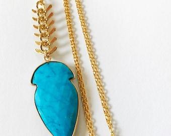 Akhaura Long Turquoise Necklace