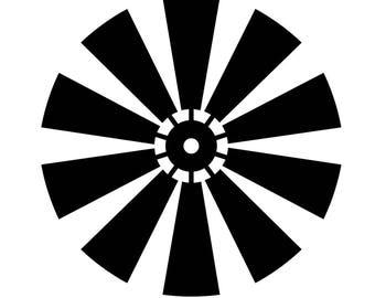Farmhouse Windmill SVG - Farmhouse SVG - Rustic Windmill Blades - Silhouette - Cricut - Cut file