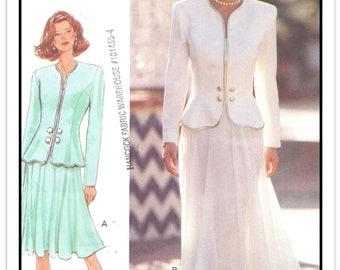 BUTTERICK Pattern 3429 - Misses' Designer Rimini Top and Flared Skirt Suit w/Sweetheart Neckline, Underskirt - Sz 12-14-16 - Uncut/FF