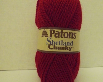 Patons Shetland Chunky ~ Wool Blend ~ Red Robin ~ #5 Bulky ~ 100 grams ~ 148 Yards