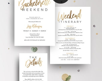 INSTANT DOWNLOAD  Bachelorette Weekend Invitation Printable Set
