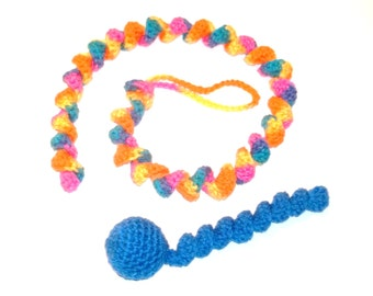 Catnip Cat Toy Ball and Curly Tail Pull Special Sale