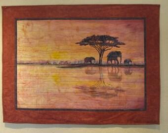 Landscape Quilt- Elephant Walk