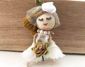 Bridal Doll Brooch