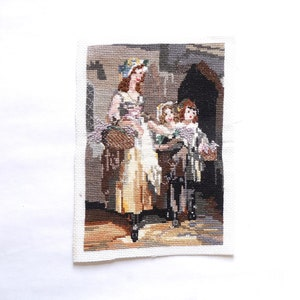 Vintage Art Handcrafted Embroidered Canvas