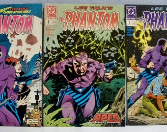 "DC Comics / 1988 Lee Falk's ""The Phantom"" / Issues #4 #7 #8 / VF to NM"