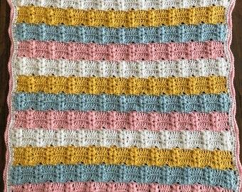 Baby Heart Blanket - Crocheted