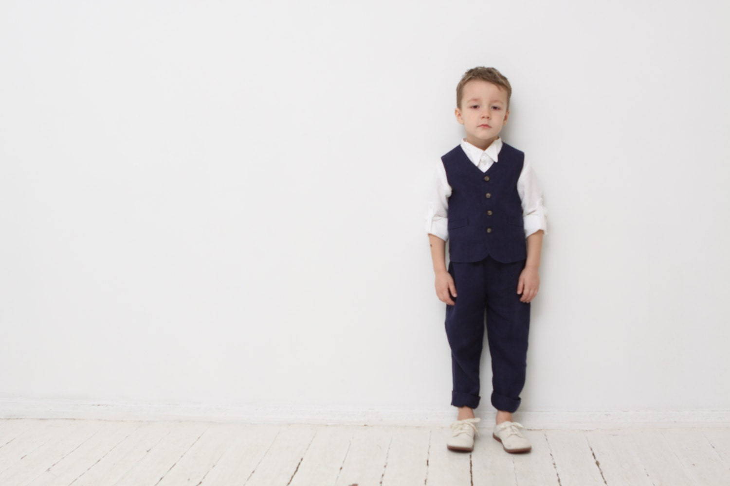 Ring bearer outfit Boys vest and pants Boys linen suit Family