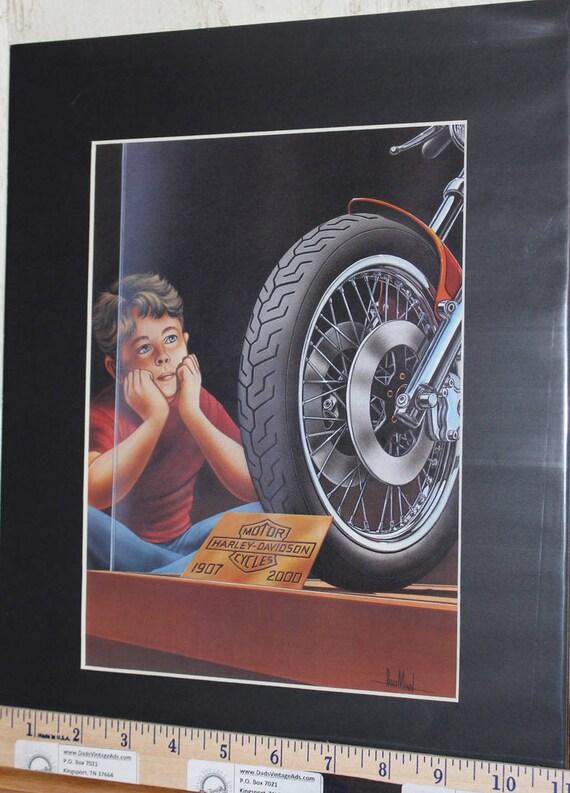 """David Mann """"Sam Chopper'' 11'' x 14'' Matted Motorcycle Biker Art #9203ezrdm"""