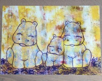 A3 Poster Children's Room hippos