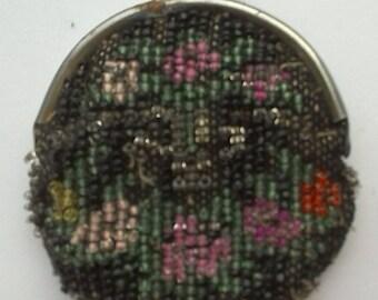 Vintage Miniature Beaded Coin Purse