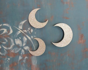 Crescent Moon and stars Mobile Trio Nursery Mobile Photography prop