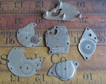 Vintage metal pocket Watch plates   - Steampunk - Scrapbooking g93