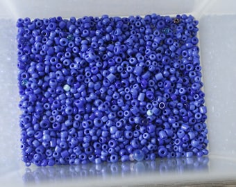 25g of dark blue seed beads