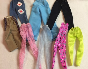 Vintage Barbie Clothes - Assortment of Pants - 8 Pieces (#157)
