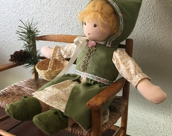 """Into the Forest 12"""" Waldorf doll dress set"""