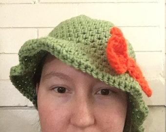 Crochet cloche hat