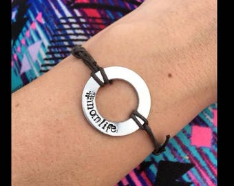 Casual Cord Washer Bracelet