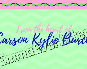 Occasion Card, blue, green, pink
