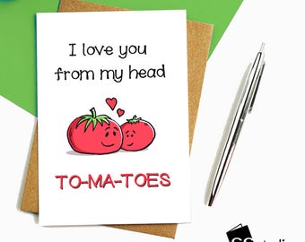 Greeting cards cambridge circle studio ccstudio i love you from my head tomatoes funny cards mothers dayfathers day m4hsunfo
