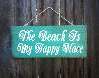 beach decor, beach is my happy place, beach house, Beach Sign, Beach House Decor, Surf Decor, Surf Shack, Hawaiian, Hawaii