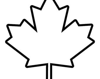 473- Flag Leaf Any Size or Color Custom Cut Vinyl Decal Sticker - Free Shipping