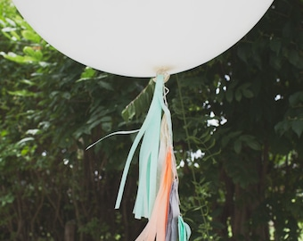 Balloon Tassels: Creamsicle