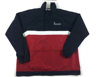 Colorblock Windbreaker Jacket (Sz XL) E-Trade Business Solutions Windbreaker Vintage Colorblock Jacket