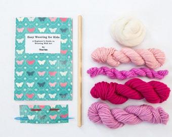 Kid's Weaving Wall Art Kit - Pink Weaving